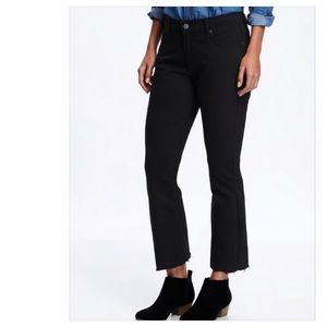 OLD NAVY Mid-Rise Raw-Edged Flare Crop Jeans